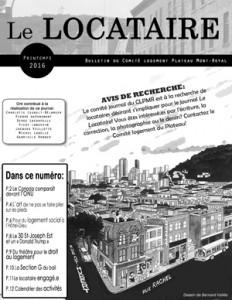 Bulletin Le Locataire printemps 2016