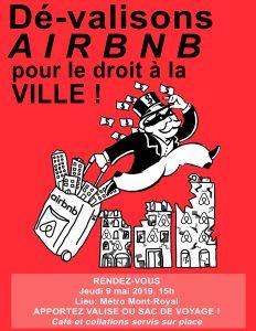 Manif-action: dé-valisons Airbnb, pour le droit à la ville!